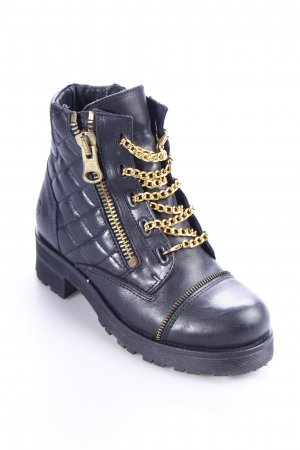 Bronx Halbstiefel schwarz Steppmuster Casual-Look