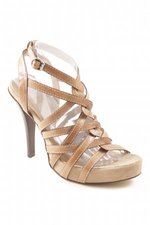 Bronx High Heel Sandaletten hellbraun Casual-Look