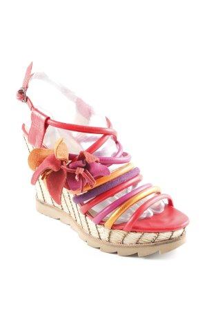 Bronx Plateau-Sandalen mehrfarbig extravaganter Stil