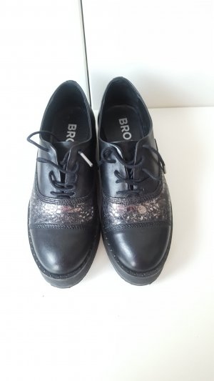 Bronx Platform Shoes in Black, Size 37