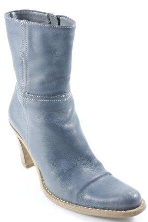 Bronx Reißverschluss-Stiefeletten blassblau schlichter Stil