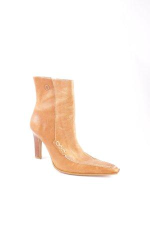Bronx Reißverschluss-Stiefeletten hellbraun Street-Fashion-Look