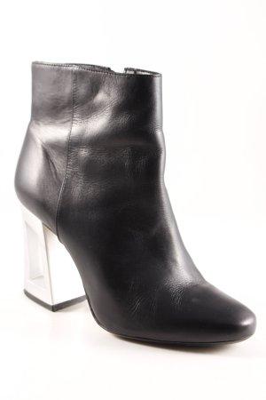 Bronx Reißverschluss-Stiefeletten schwarz-silberfarben Elegant