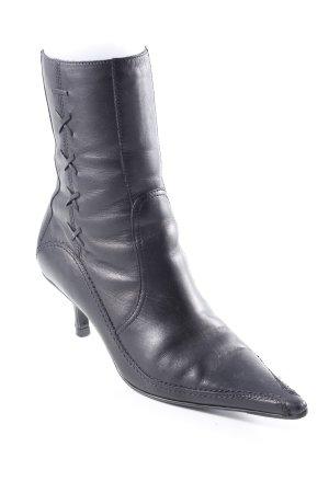Bronx Reißverschluss-Stiefeletten schwarz Vintage-Look