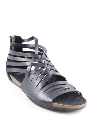 Bronx Sandalen met bandjes zwart-lichtbruin klassieke stijl