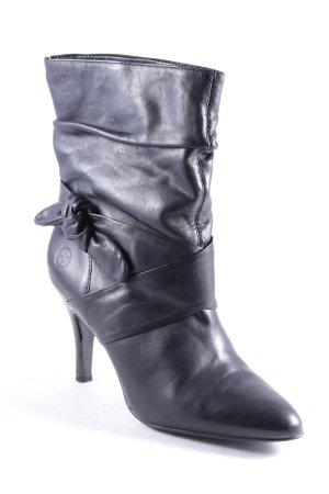 Bronx Schlüpf-Stiefeletten schwarz Eleganz-Look