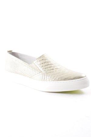 Bronx Schlüpfsneaker goldfarben-weiß Street-Fashion-Look