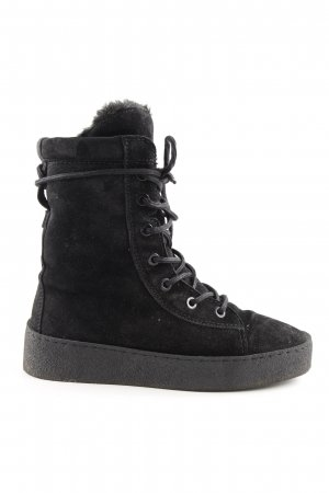 Bronx Lace-up Boots black biker look