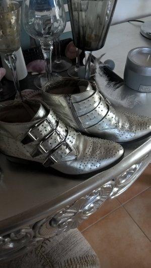 BRONX Silber Echt Leder Gr.38