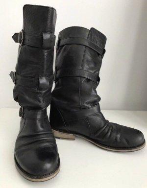 Bronx Stiefel 38 schwarz Echtleder