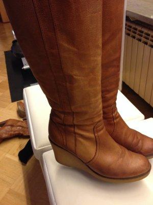 BRONX Stiefel in Cognac in einem sehr guten Zustand