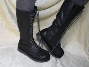Bronx Lace-up Boots black leather