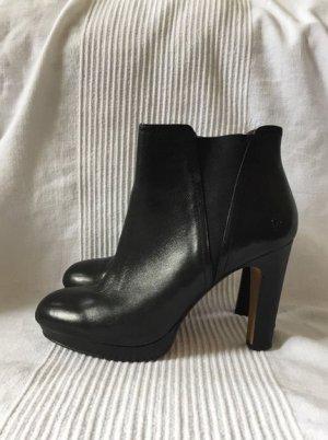 Bronx Stiefelette schwarz sexy edel Lederschuh bequem Größe 39