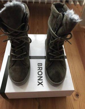 Bronx Aanrijglaarsjes khaki Suede