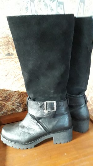 Bronx Short Boots black leather