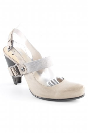 Bronx Zapatos de tacón con barra en T gris claro elegante