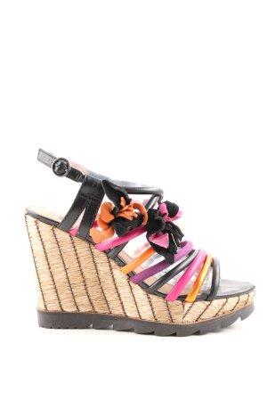 Bronx Wedges Sandaletten mehrfarbig Casual-Look