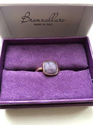 Bronzallure Ring, Gr.56 , Stein zart lila, sehr guter Zustand