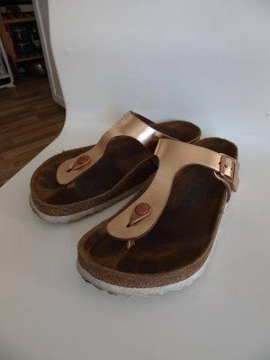 Birkenstock Toe-Post sandals bronze-colored