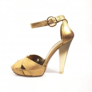 Casadei High-Heeled Sandals bronze-colored