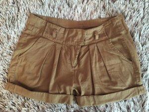Bronze Farbene High Waist Shorts