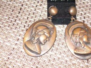 Bronze-farbene Ohrringe Römische Münzen Blogger!