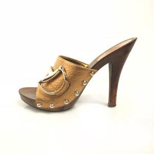 Gucci Sandalen met hoge hakken brons