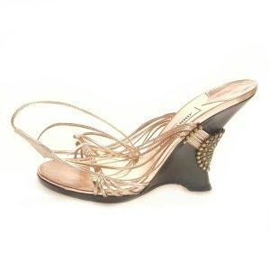 Jimmy Choo High-Heeled Sandals bronze-colored