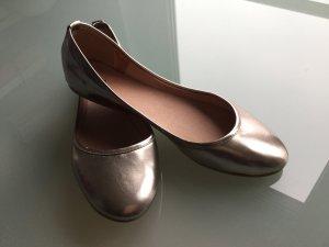Bronze Metallic Ballerinas (echt Leder)