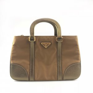 Bronze Prada Shoulder Bag