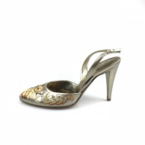 Bronze Sergio Rossi Evening Shoe