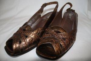Bronzefarbene Comfort-Sandalen von Gabor