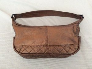 Bronzefarbene Handtasche von Mango