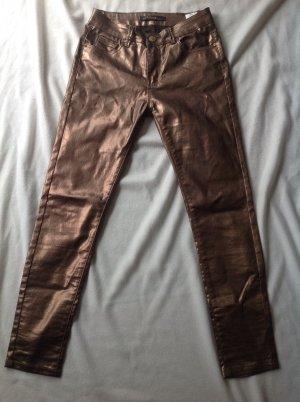 Norfy Pantalon cinq poches bronze