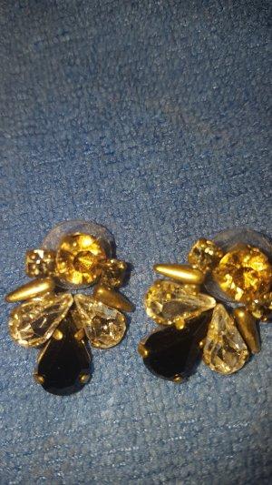 bronzefarbene Jade und Jasper Ohrringe