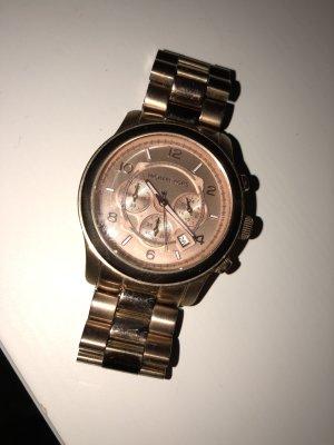 Michael Kors Horloge met metalen riempje brons