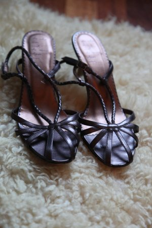 H&M High Heel Sandal bronze-colored imitation leather