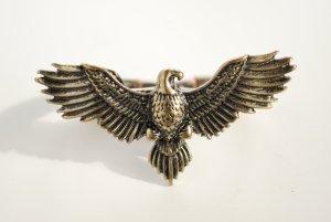 Bronzefarbener Doppelring mit Adlermotiv