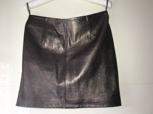 Gestuz Leather Skirt bronze-colored leather