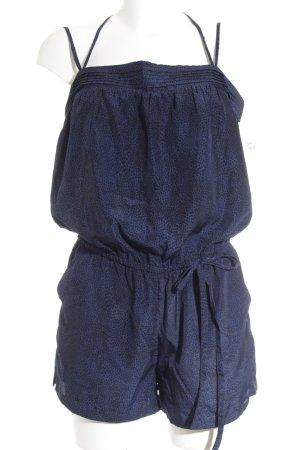 Brooklyn Industries Jumpsuit schwarz-blau Animalmuster Animal-Look