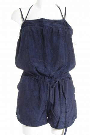 Brooklyn Industries Jumpsuit schwarz-blau Animalmuster Animal-Look