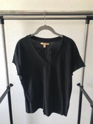 Zara Camiseta estampada negro-blanco