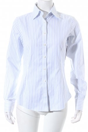 Brooks Brothers Hemd-Bluse weiß-himmelblau Streifenmuster Business-Look