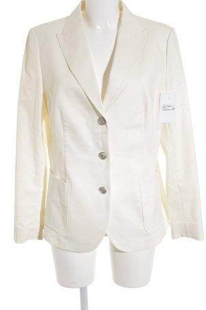 Brooks Brothers Blazer en jean crème-argenté style d'affaires