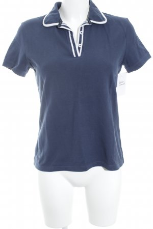 Brooks Brothers Polo-Shirt dunkelblau-weiß Casual-Look