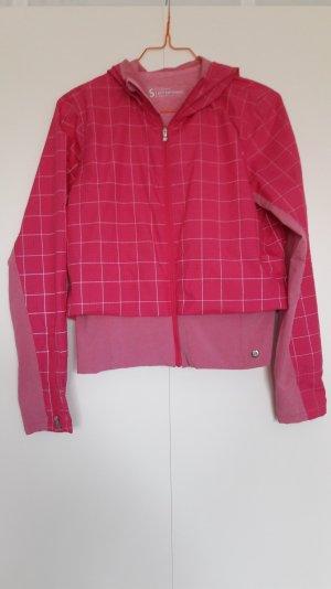 Brooks Running PureProject Laufjacke pink rosa Karo mit Reflektor Gr. S