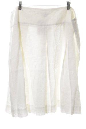 Brookshire Plaid Skirt natural white casual look