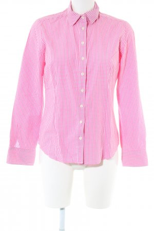 Brookshire Hemd-Bluse pink-weiß Karomuster Business-Look