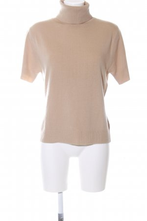 Brookshire Short Sleeve Sweater oatmeal-beige classic style