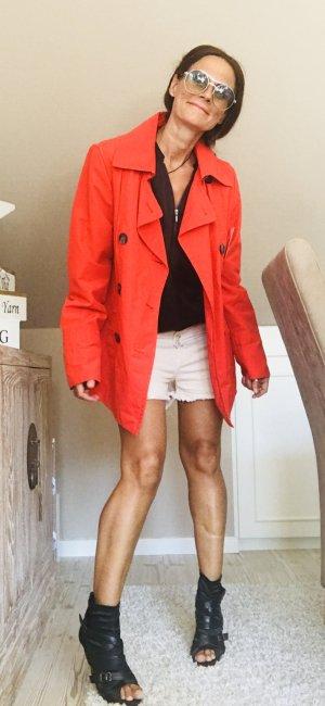 Brookshire Trenchcoat rot Casual-Look Mischgewebe